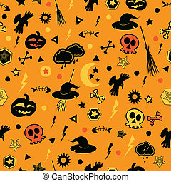 halloween, pattern., seamless