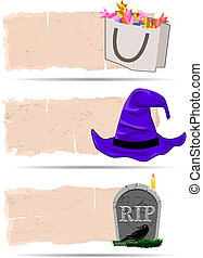 halloween, pegatina, vector