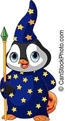 Halloween Penguin Wizard