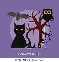 Halloween Pet Conceptual illustration Design