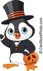 halloween, pinguino