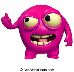 halloween pink monster