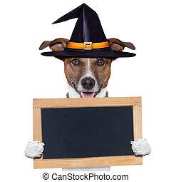 halloween placeholder banner dog