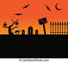 halloween, plano de fondo, themed