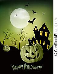 halloween, plano de fondo, vector