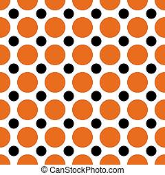 Halloween Polka Dots - A background pattern of polka dots...
