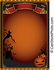 Halloween poster - A background on halloween theme for a ...