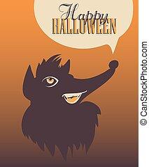 halloween, poster., felice