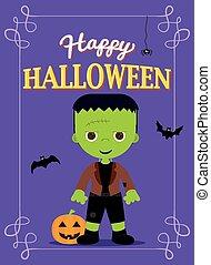 halloween poster frankenstein