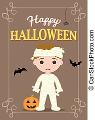 halloween poster mummy