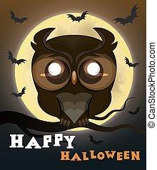 Halloween poster owl