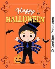 halloween poster spidergirl