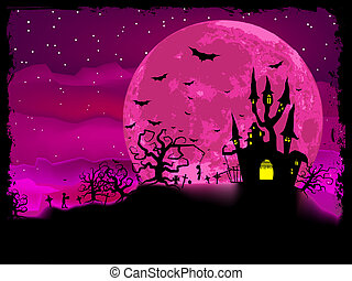 Halloween poster with zombie background. EPS 8 vector file ...