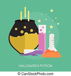 Halloween Potion Conceptual illustration Design