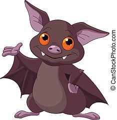 halloween, presentare, pipistrello