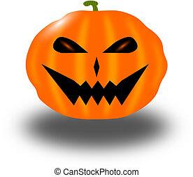 Halloween Pumkin - This illustration shows a pumpkin on...
