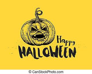 Halloween Pumpkin and typography