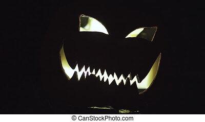 Halloween pumpkin at night