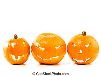 Halloween pumpkin border