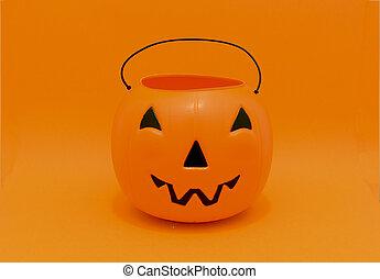 Halloween Pumpkin candy bucket
