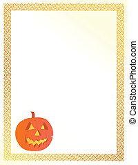 halloween pumpkin card illustration