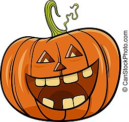 Halloween pumpkin character cartoon illustration - Cartoon ...
