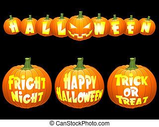 Halloween pumpkin concepts.