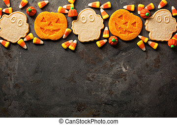 Halloween pumpkin cookies and candy - Halloween pumpkin and...
