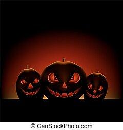 halloween pumpkin dark background
