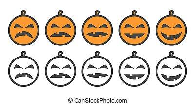 Halloween Pumpkin Emoji icons