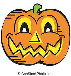 Halloween Pumpkin Face Clip Art