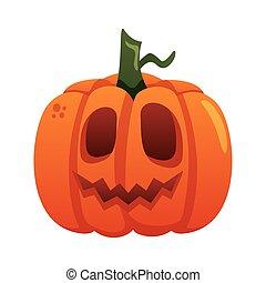 halloween pumpkin face degradient style