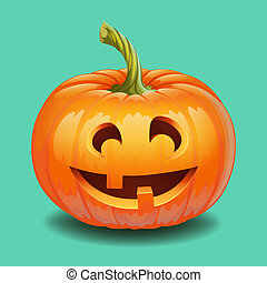 Halloween pumpkin face - funny smile Jack o lantern, autumn ...