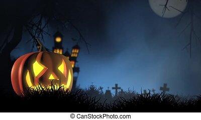 Halloween pumpkin face - Halloween holiday pumpkin face in...