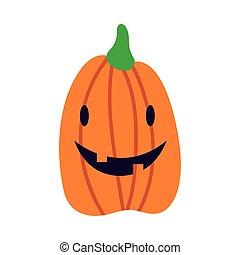 halloween pumpkin flat style icon