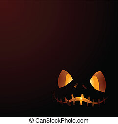 Halloween Pumpkin for banners or invitation