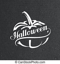 Halloween Pumpkin. Holiday Vector Illustration.