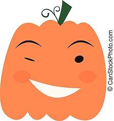 Halloween pumpkin icon,