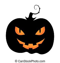 Halloween pumpkin icon isolated on a white background.