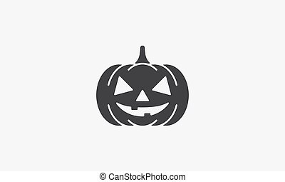 halloween pumpkin icon. isolated on white background.