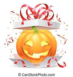 Halloween Pumpkin in Gift Box
