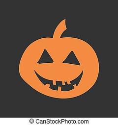 Halloween pumpkin isolated flat style