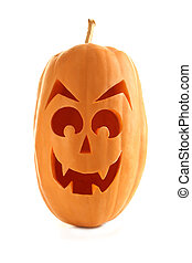 Halloween pumpkin isolated on a white