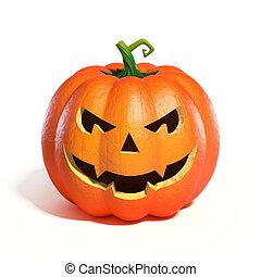 Halloween Pumpkin Jack O Lantern 3d rendering