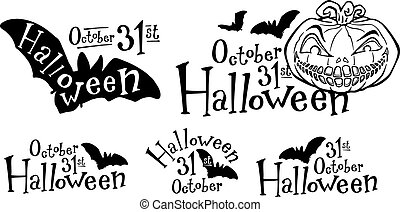 Halloween pumpkin, jack-o-lantern - Isolated carving...