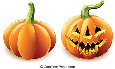 halloween pumpkin jack-o-lantern with angry face