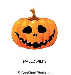 Halloween pumpkin on a white background