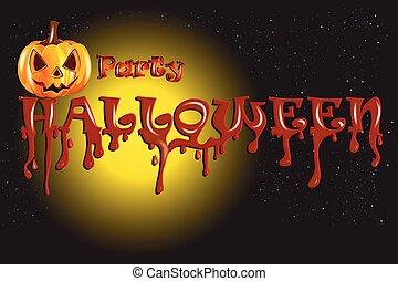 Halloween Pumpkin Party background