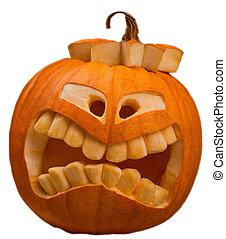 halloween pumpkin - orange halloween pumpkin isolated