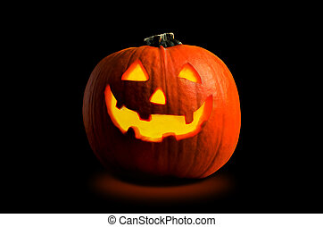 Halloween Pumpkin - Photograph of a Halloween pumpkin (Jack...